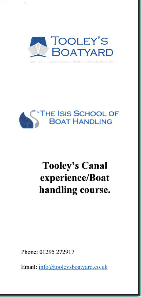 Canal Experience course leaflet